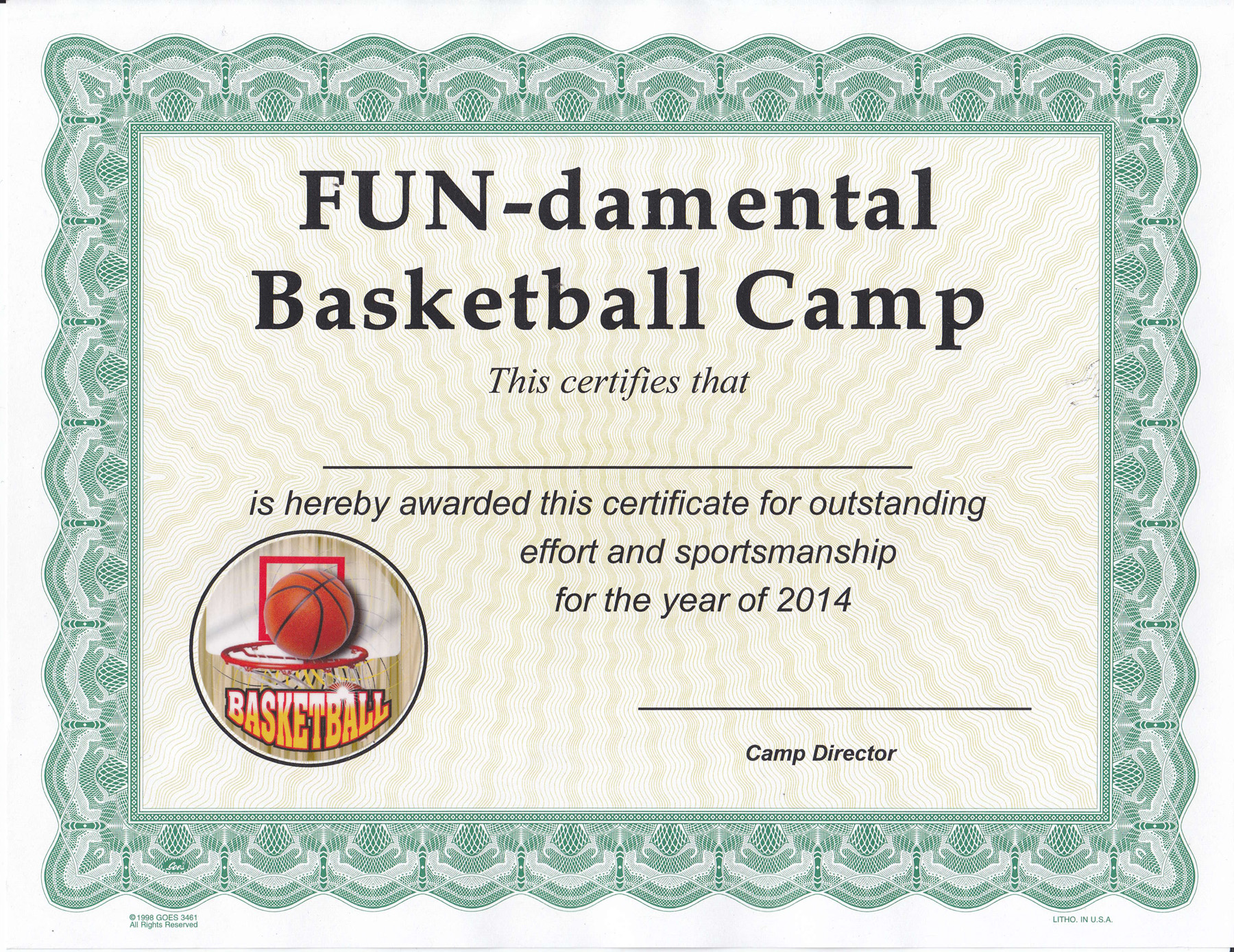 Custom Printed Certificates With Insert Emblem 8 12 X 11 Black