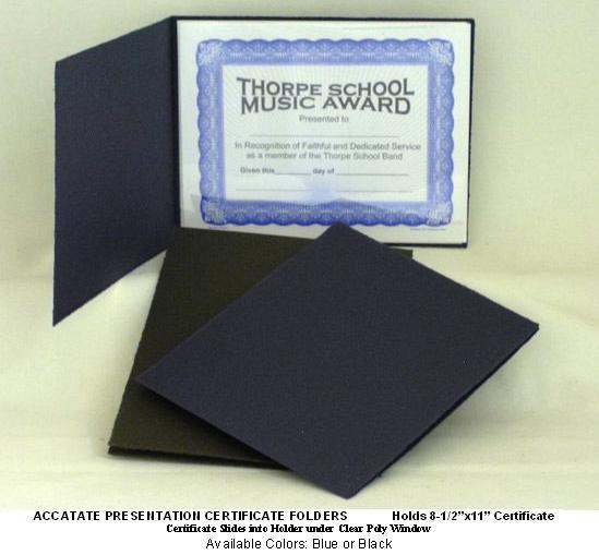 Acetate Presentation Certificate Folders | Blanch & Son