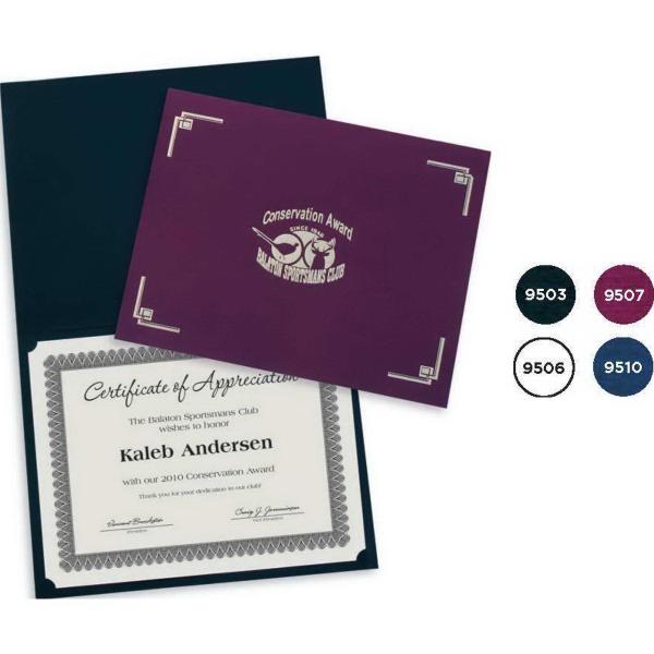 Custom Printed Classic Linen Certificate Folder | Blanch & Son
